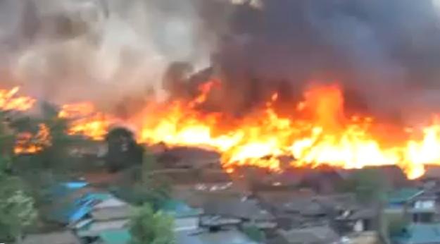 FIRE OUTBREAK in Umpiem Mai refugee camp